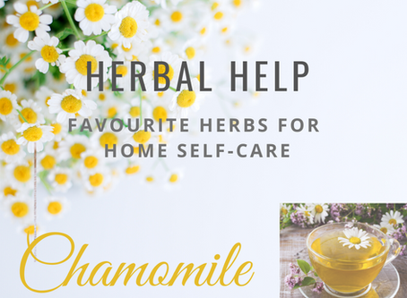 Herbal Help. My Favourite Herbs for Home Self-care