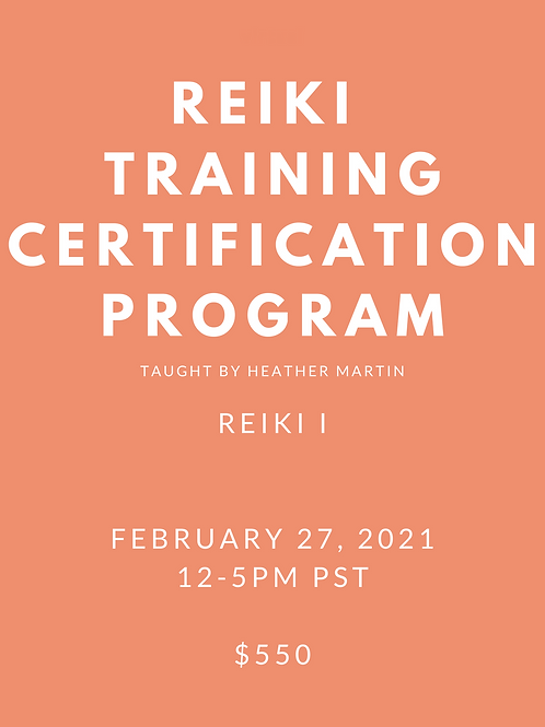 Virtual Reiki 1 Certification with Heather Martin