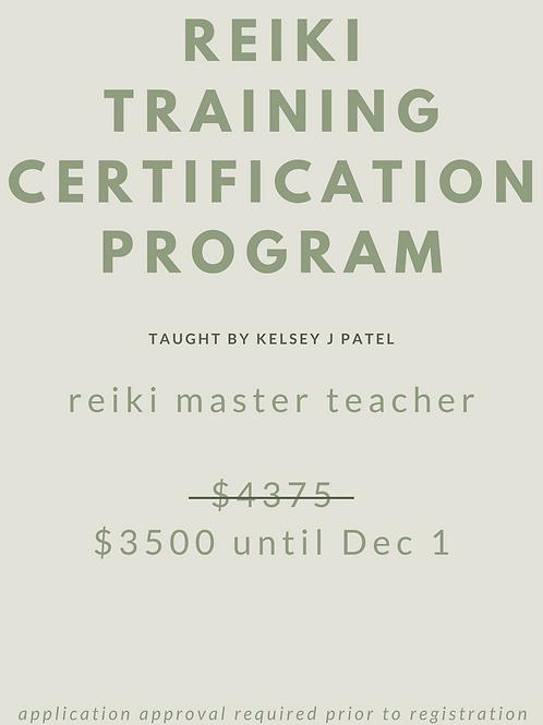 Reiki Master Teacher Training - Dec 5-6