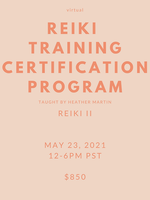 Virtual Reiki II Certification with Heather Martin