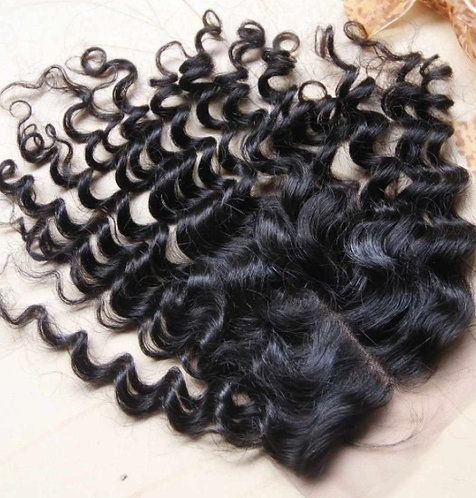 CURLY FREE PART CLOSURE