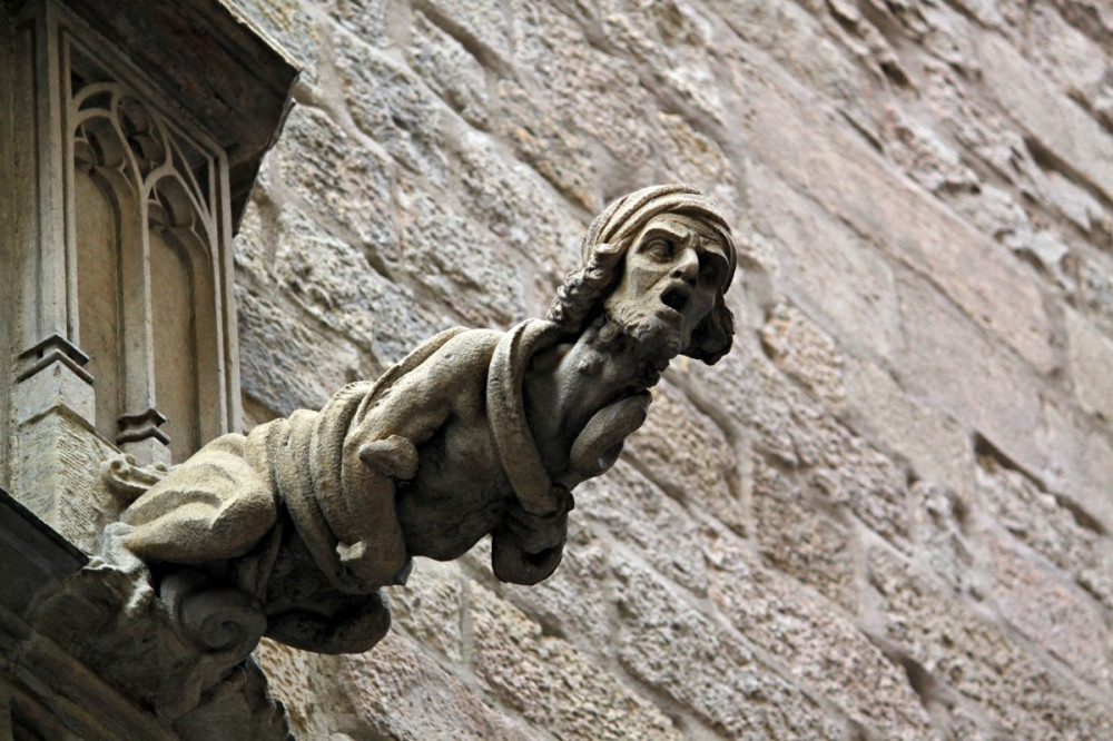 The Gothic Neighbourhood in Barcelona is home to innumerable fantastical creatures