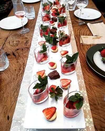 Desserts en forme de verrines