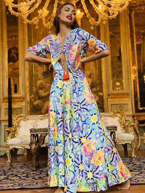 Long Luxurious Printed Dress