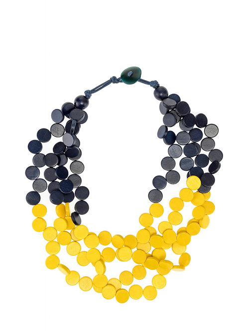 Necklace NAVY/YELLOW