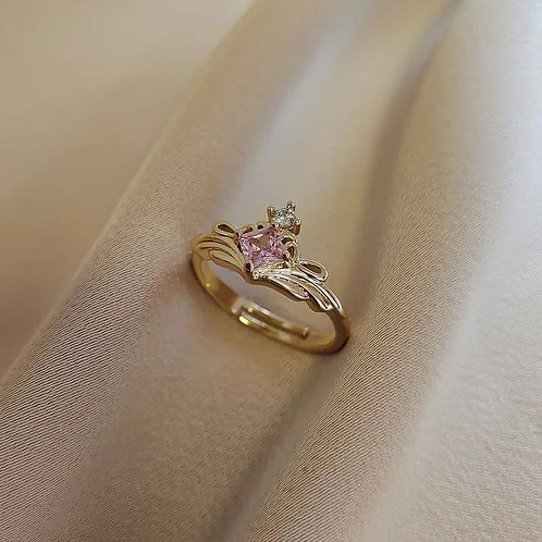 Gold plated rings with Zircons