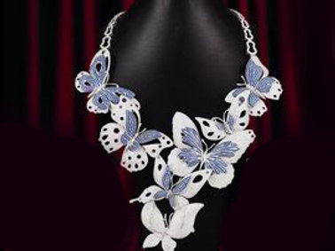 Butterflies Couture Jewelry Necklace
