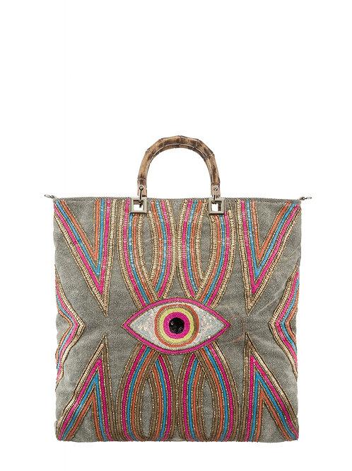 Handbag pink and blue