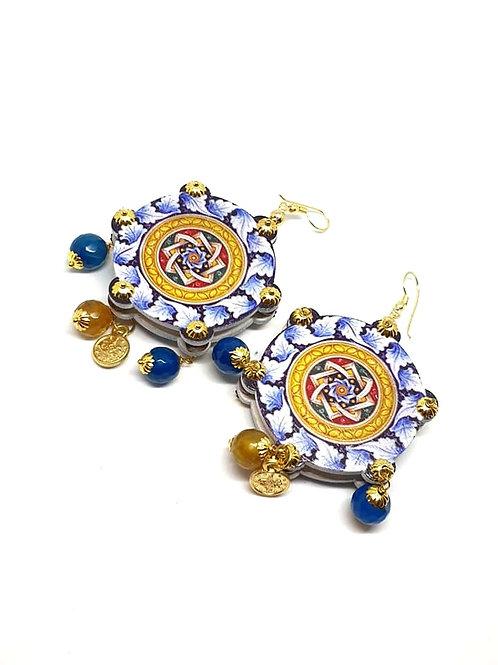 Bohemian  Statement wooden earrings