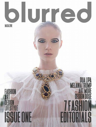 NATC COUTURE JEWELS ON BLURRED MAGAZINE 1ST ISSUE COVER PHOTO!