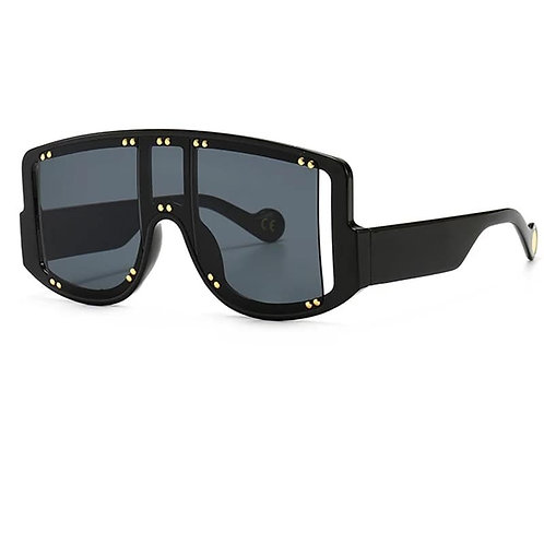 Black Square-frame sunglasses