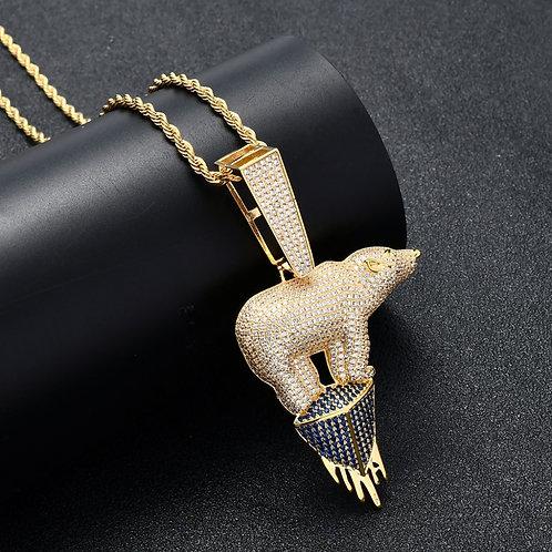 Polar Bear Couture Necklace