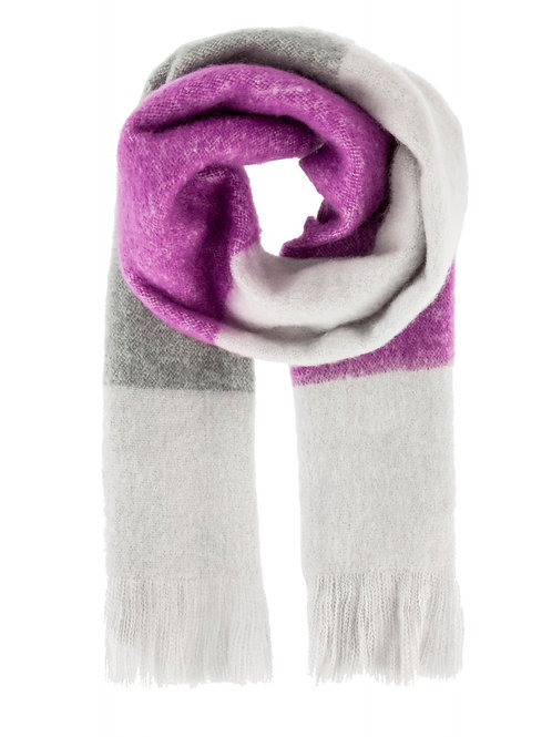 Scarf grey and purple