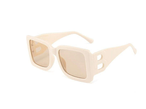 Beige Square-frame sunglasses