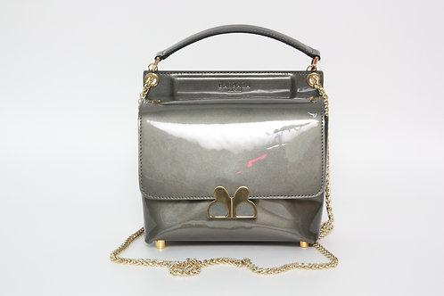 Barbara MilanoLove Bag Gray Leather