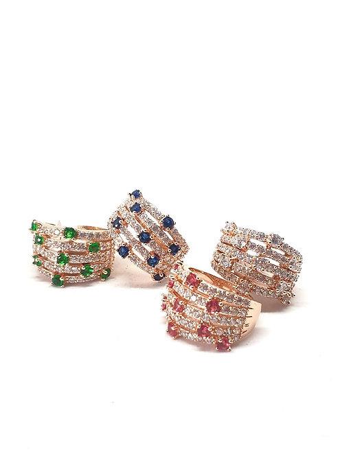Multibands zircon rings