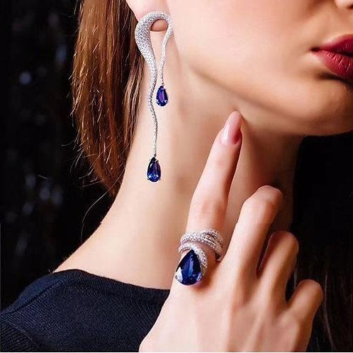 Water Drop Earrings/Ring set