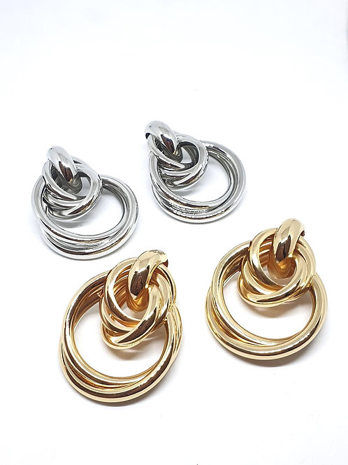 Multilayerd hoops earrings