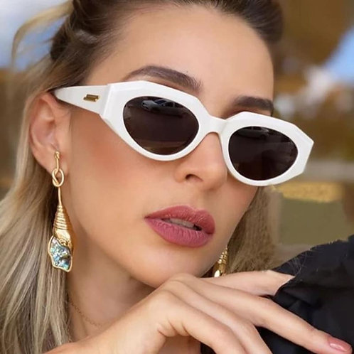White frame sunglasses