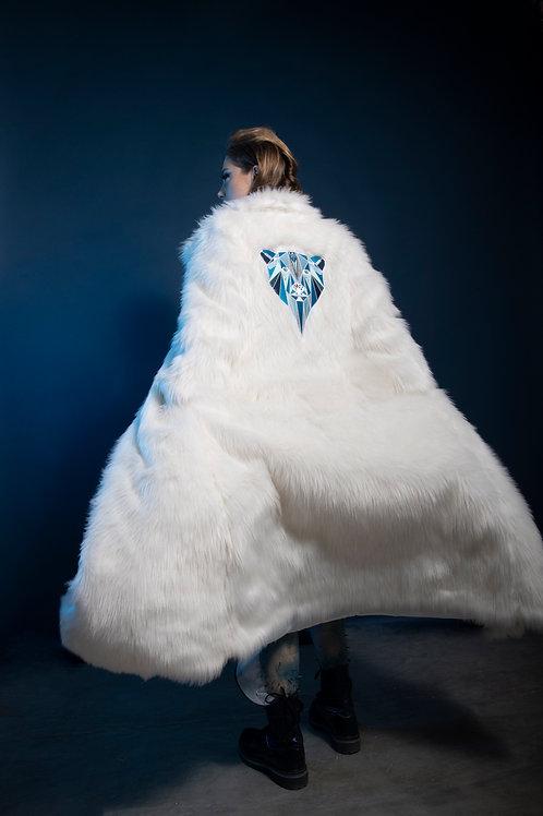 Long White Faux Fur