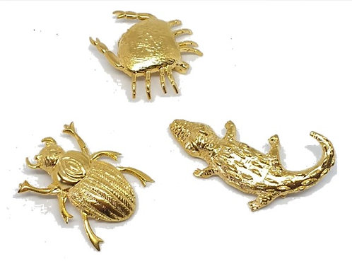 set of brooches