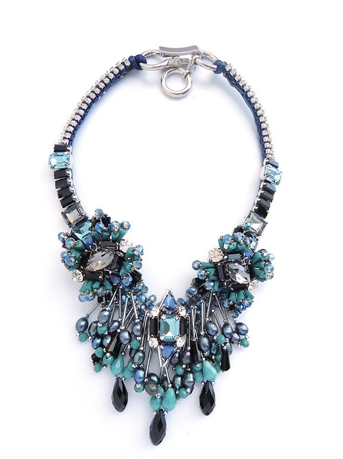 Statment Necklace2795 BLU