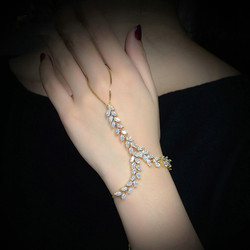 Leaf Design Slave Ring-Bracelet - AA