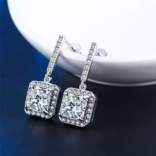 Zircon Rhodium plated earrings