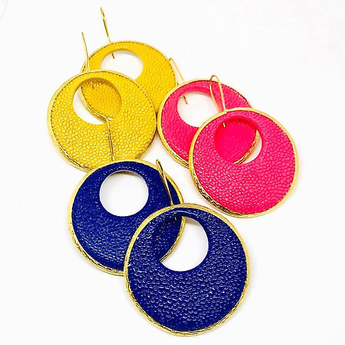 Colorful pierced earrings