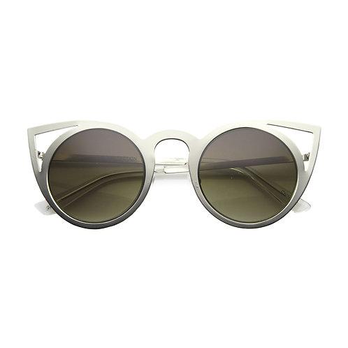 Cat eye sunglasses silver