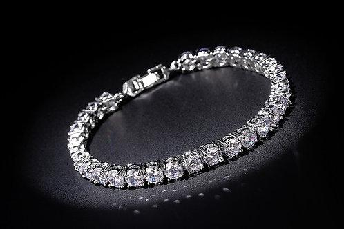 Zircon Rhodium plated bracelet
