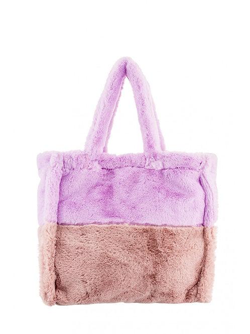 Handbag purple and pink