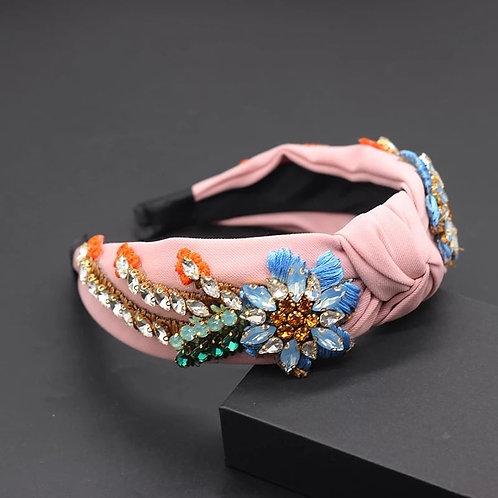 Crystalized Headband baby pink