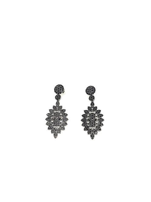 Black Zircons Earrings
