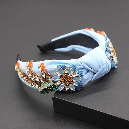 Crystalized Headband baby blue