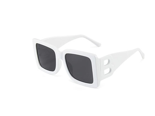 White Square-frame sunglasses
