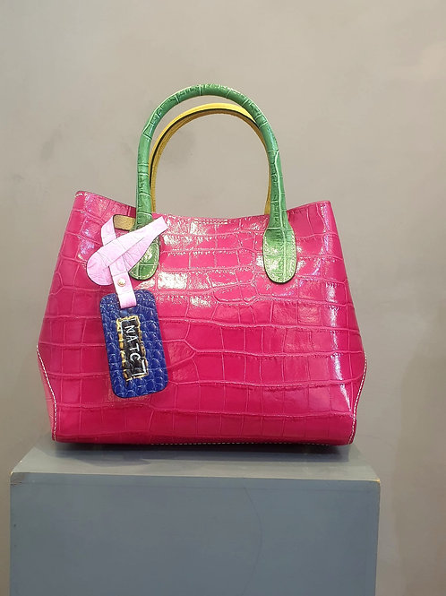Double face leather bag