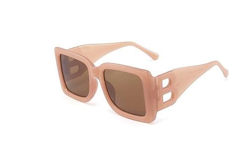 Camel/Beige Square-frame sunglasses