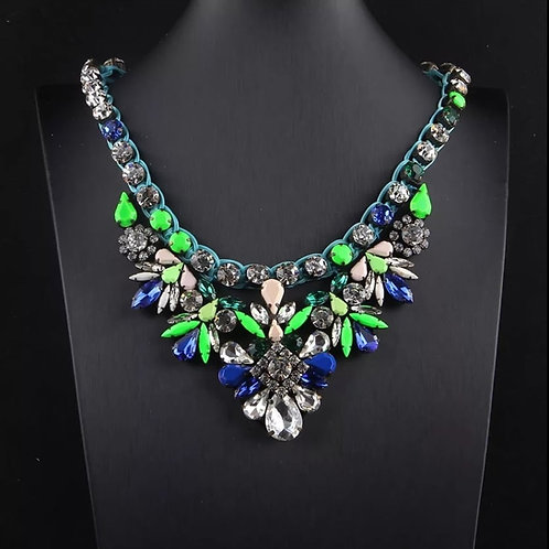 Statement Crystal Necklace NEON