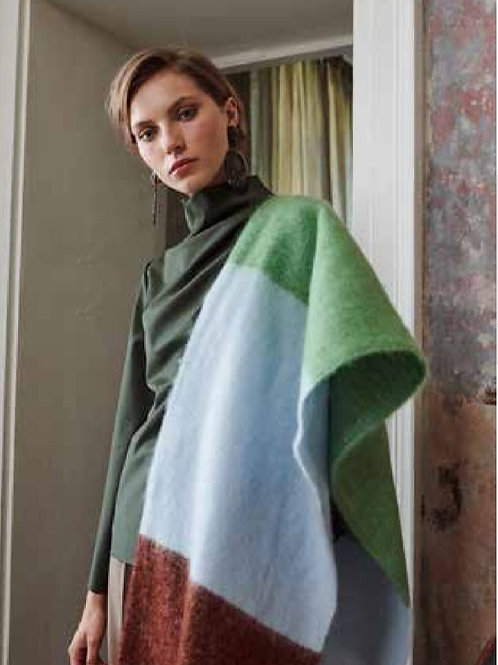Scarf brown and green