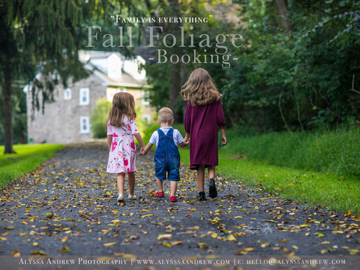 2018 Fall Foliage Photo Sessions | PA Locations ANNOUNCED!