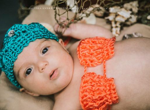 PA Newborn Photographer | The Tiniest Mermaid