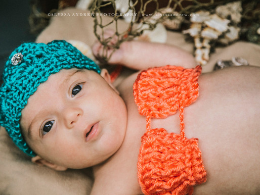 PA Newborn Photographer | The Tiniest Mermaid