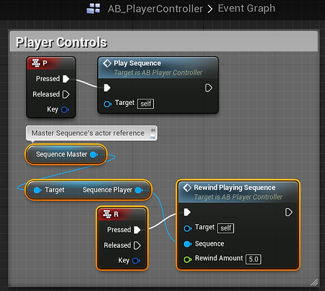 Setting a rewind amount for a UE4 Sequence in Blueprint