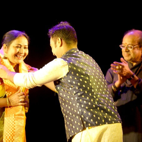 Felicitation of Guru Smt. Paramita Maitra & Guru Sri Ashimbandhu Bhattacharya