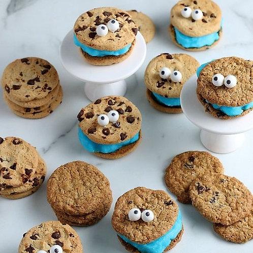 Sandwichs crème glacé Cookies Monster