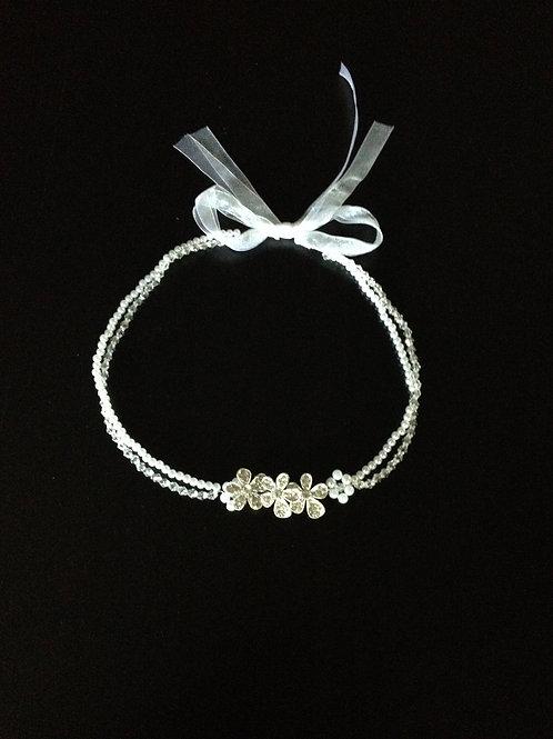 Haarband Perlen & Blüten NO2