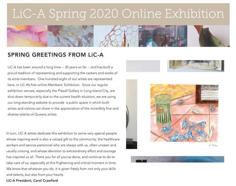LiC-A Spring 2020 Online Exhibition