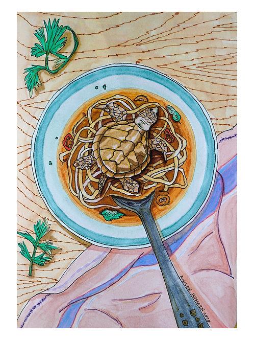 Turtle Noodle Soup