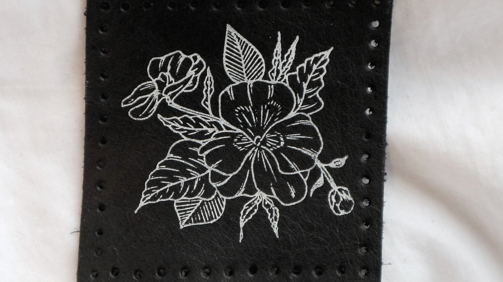 Floral Leather Patch